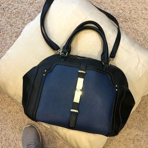Black and Navy Nine West Purse